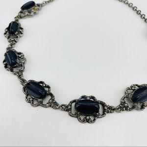 Vintage Black Stone Choker Necklace
